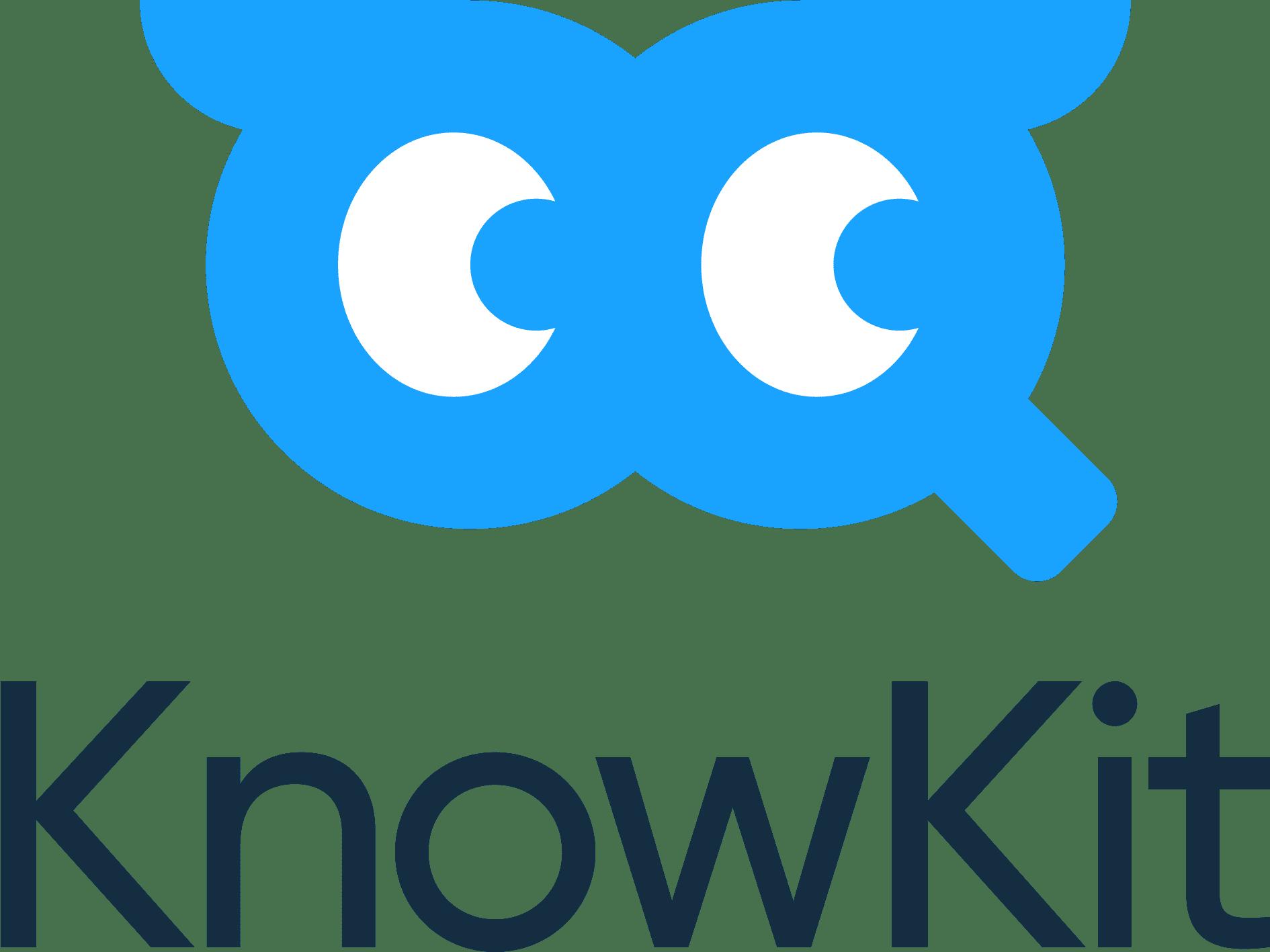 Logo von KnowKit blaue Brille